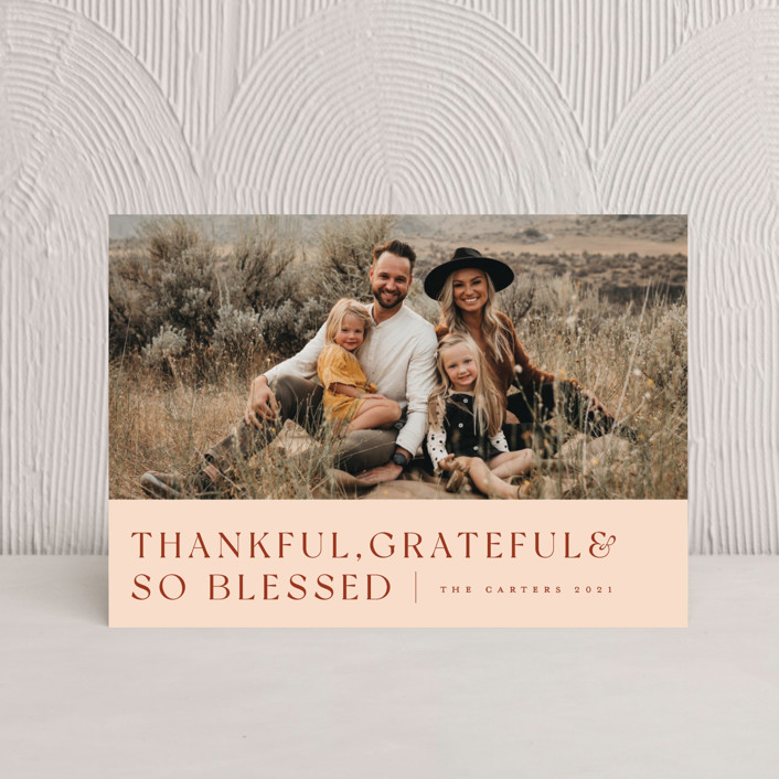 """""""Thankful Grateful Blessed"""" - Thanksgiving Postcards in Spice by Sandra Picco Design."""