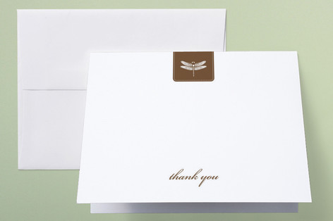 Classic Dragonfly Emblem Thank You Cards