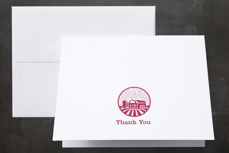 Iconic Barnyard Thank You Cards
