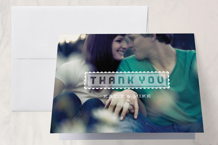 """""""Picture Perfect Moment"""" - Modern Thank You Cards in White by Serenity Avenue."""