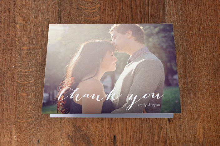 """""""Picture Perfection"""" - Classical, Modern Thank You Cards in White by SimpleTe Design."""