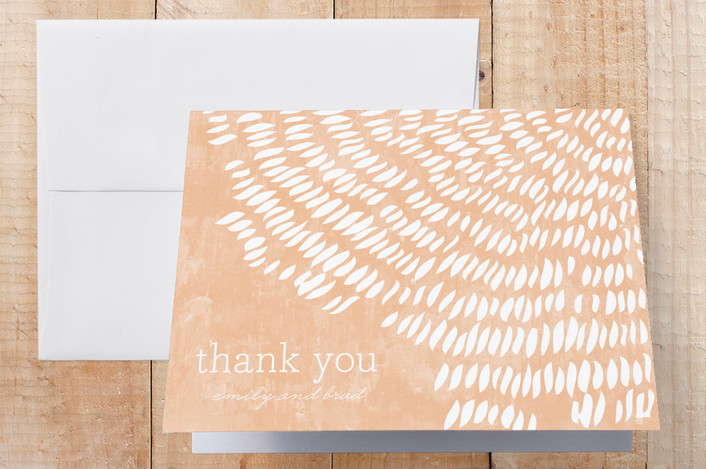 """""""Shells"""" - Rustic, Beach Thank You Cards in Pink Coral by SimpleTe Design."""
