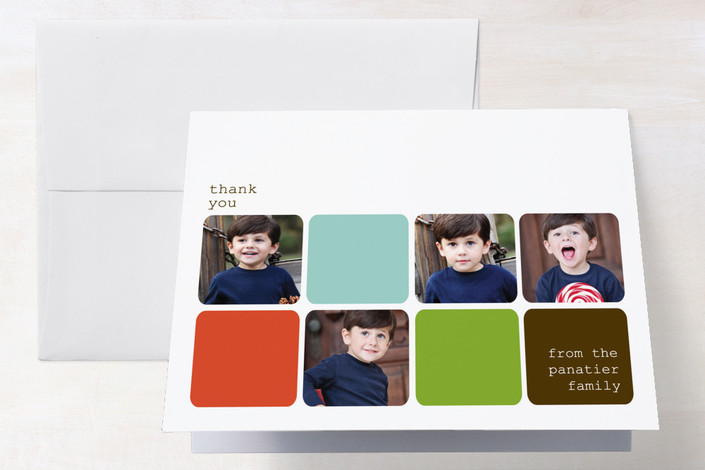 """""""Modern Family"""" - Modern Thank You Cards in Orange by Wendy McClure."""