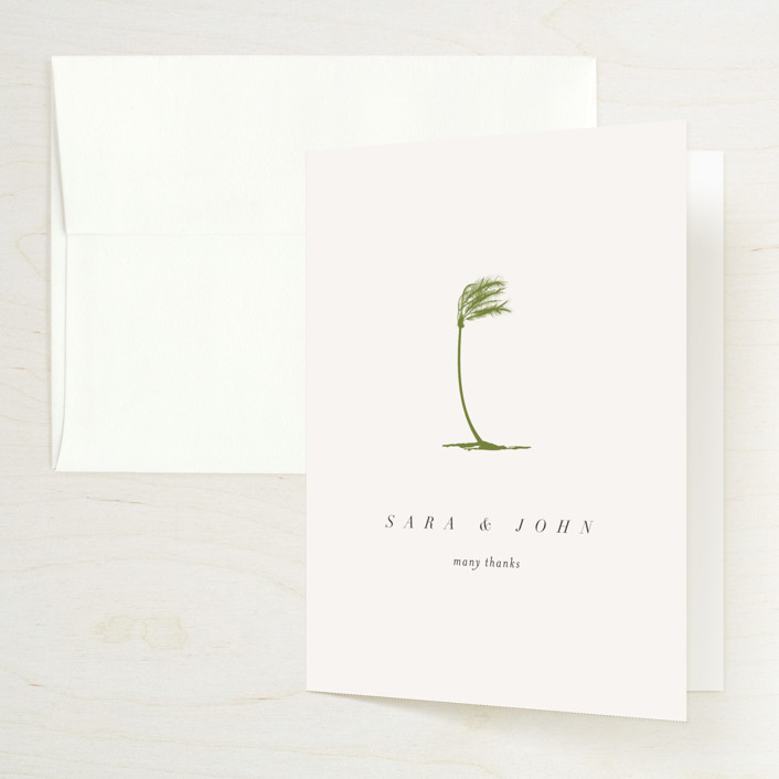 """""""palmetto"""" - Folded Thank You Card in Palmetto by kelli hall."""