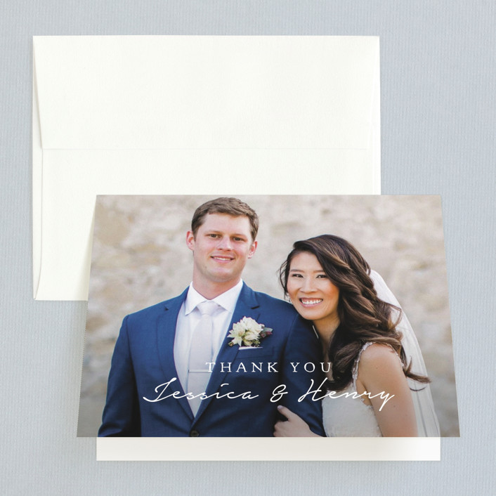 """Charleston"" - Monogram Thank You Cards in Tuxedo by Susan Brown."