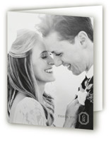 This is a black and white wedding thank you card by Toast & Laurel called Upper East with standard printing on strathmore in standard.