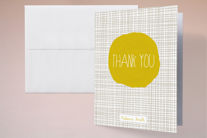 """Sunshine"" - Modern Thank You Cards in Yellow by Tami Bohn."