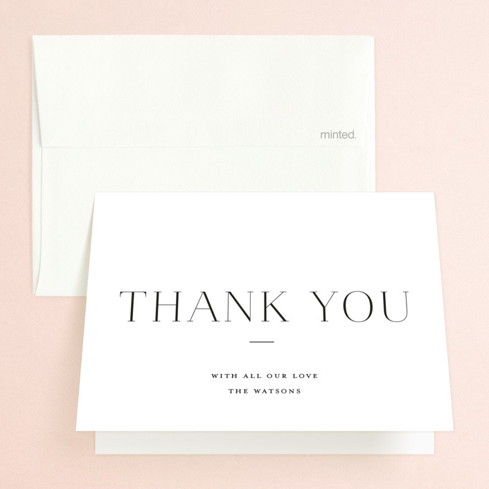 """""""conjoin"""" - Folded Thank You Card in Pearl by Alethia Frye."""