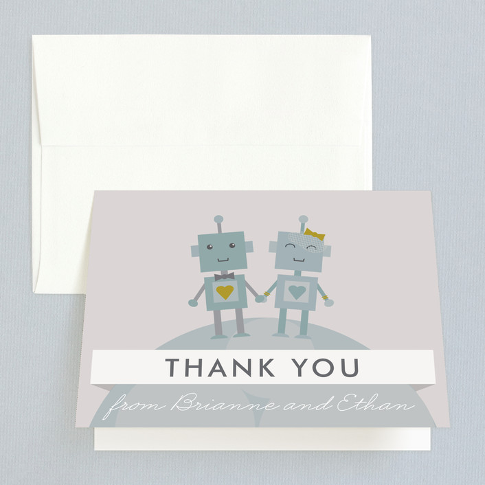 """""""Infinity & Beyond"""" - Bold typographic, Whimsical & Funny Thank You Cards in Slate by Dawn Jasper."""