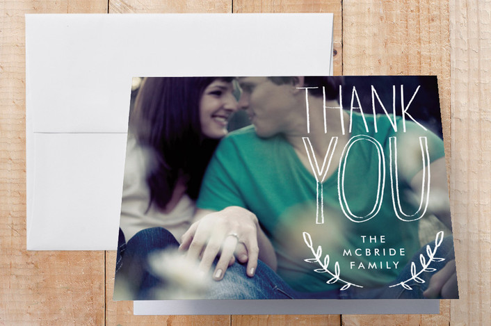 """""""Sketchbook Handwriting"""" - Hand Drawn Thank You Cards in White by Alethea and Ruth."""