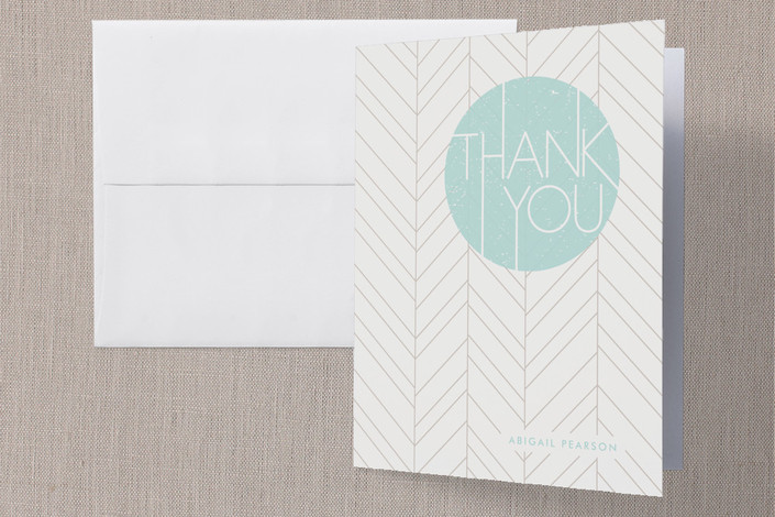 """""""The Bright Side"""" - Modern Thank You Cards in Aqua by Amber Barkley."""
