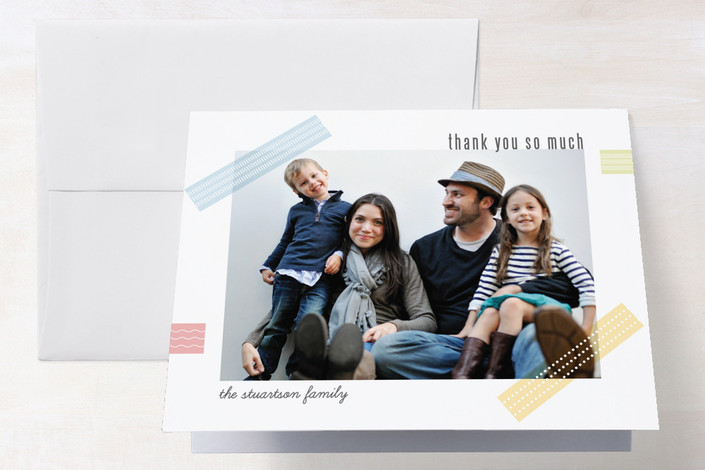 """""""Family Craft"""" - Craft Thank You Cards in Blush by Ana Gonzalez."""