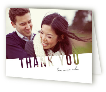 Simply See Through Thank You Cards