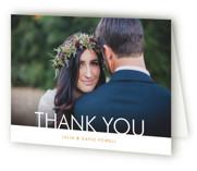 This is a orange wedding thank you card by Nam Bourassa called Minimalist Display with standard printing on strathmore in standard.