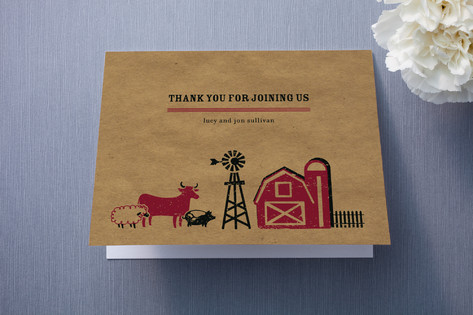 Farm Country Thank You Cards