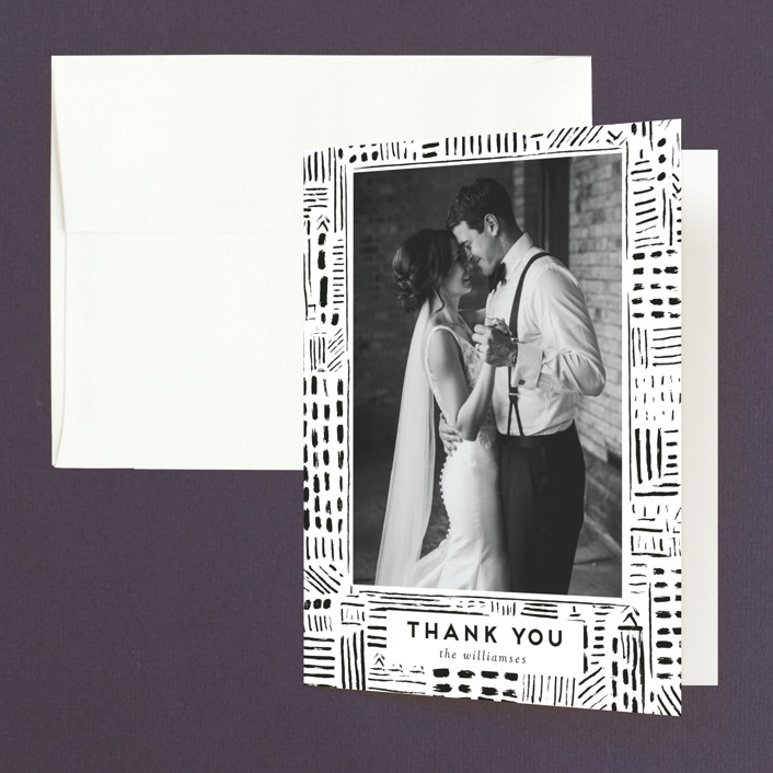"""""""Love In The City"""" - Modern Folded Thank You Card in Pearl by Shiny Penny Studio."""