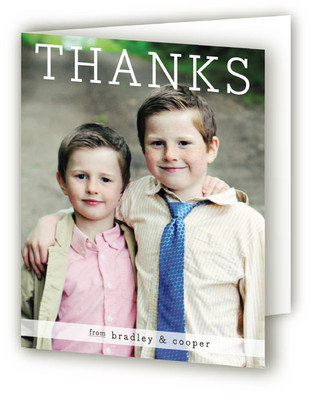 Thanks from the Boys Thank You Cards