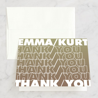 Charge Ahead Thank You Cards