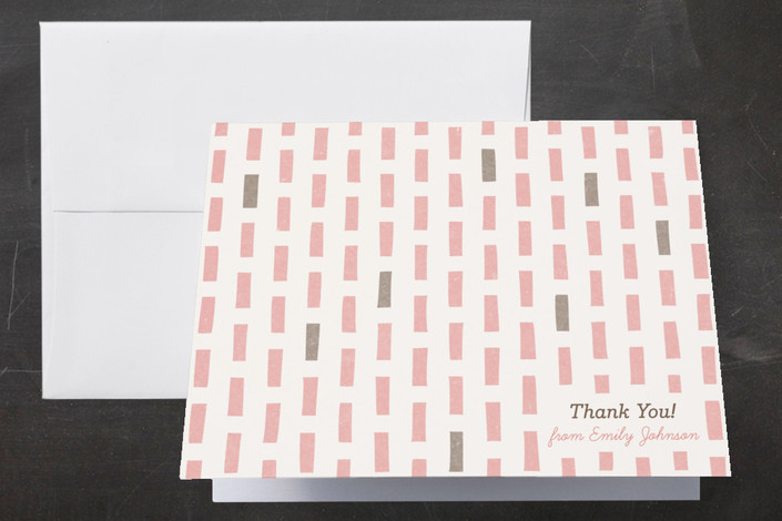 """The Blocks of Color"" - Modern Thank You Cards in Blush by Four Wet Feet Studio."