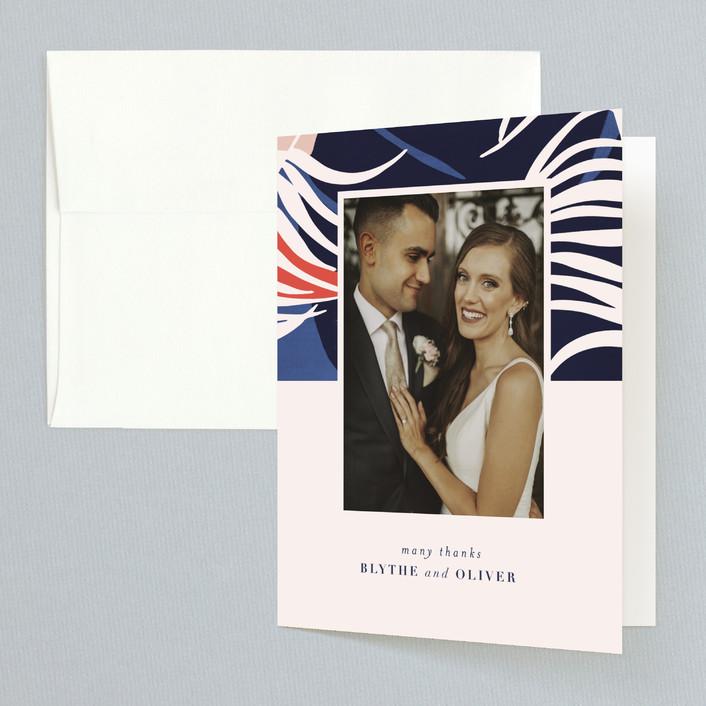 """Acapulco"" - Thank You Cards in Indigo by Angela Marzuki."