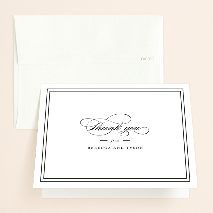 """""""Eloquence"""" - Folded Thank You Card in Vanilla by Kimberly FitzSimons."""