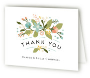Floral Ampersand Thank You Cards