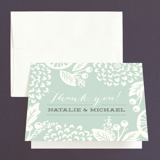 Floral Silhouette Thank You Cards