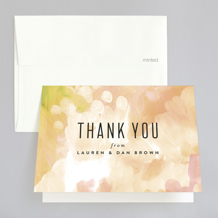 """""""Gallery Abstract Art"""" - Bohemian Thank You Cards in Ocean by Alethea and Ruth."""
