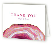 This is a purple wedding thank you card by Kaydi Bishop called Gilt Agate with standard printing on strathmore in standard.