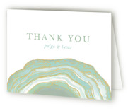 This is a green wedding thank you card by Kaydi Bishop called Gilt Agate with standard printing on strathmore in standard.