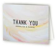 Peach Strokes Thank You Cards