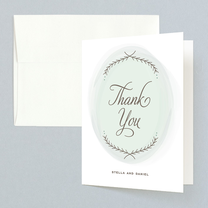 """Romantic Whisper"" - Thank You Cards in Sky by Jennifer Postorino."