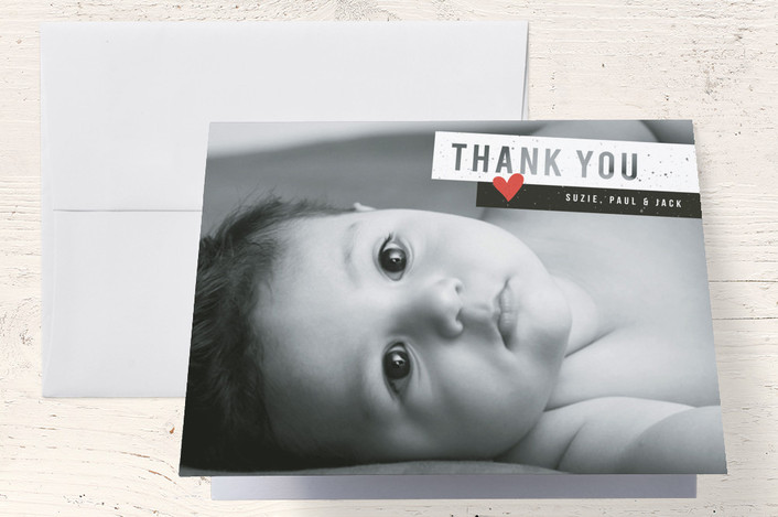 """""""Be Bold"""" - Modern Thank You Cards in Classic by Snow and Ivy."""