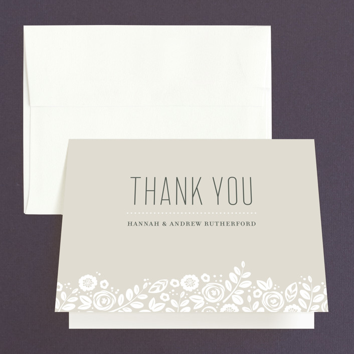 """""""White Shadows"""" - Thank You Cards in Champagne by Jessica Williams."""