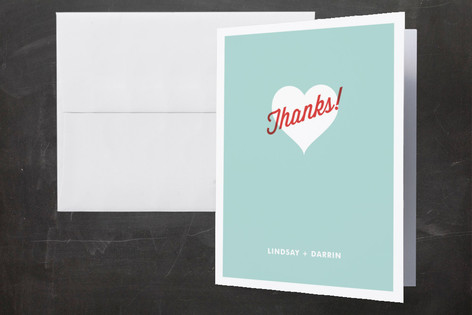 I Heart You Thank You Cards