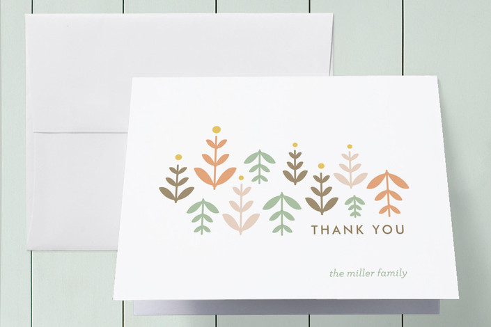 """""""Little Sprouts"""" - Floral & Botanical Thank You Cards in Spring by Lisa Nelson."""