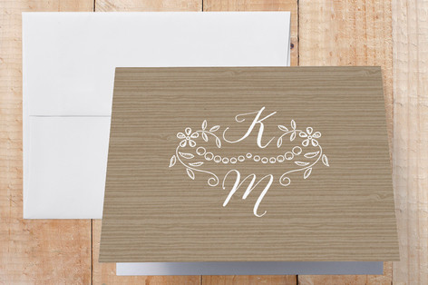 Woodland Initials Thank You Cards