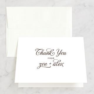 Chocolate Matrimony Thank You Cards