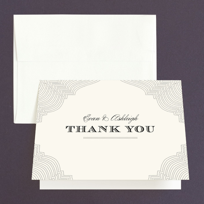 """""""Splendorous"""" - Vintage, Classical Thank You Cards in Cream by Design Lotus."""