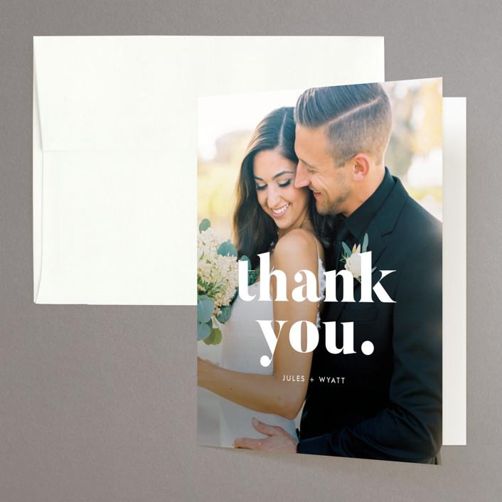 """""""Nolita"""" - Folded Thank You Card in Silk by annie clark."""