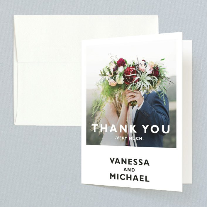 """""""Desenfadado"""" - Folded Thank You Card in Black by Aspacia Kusulas."""