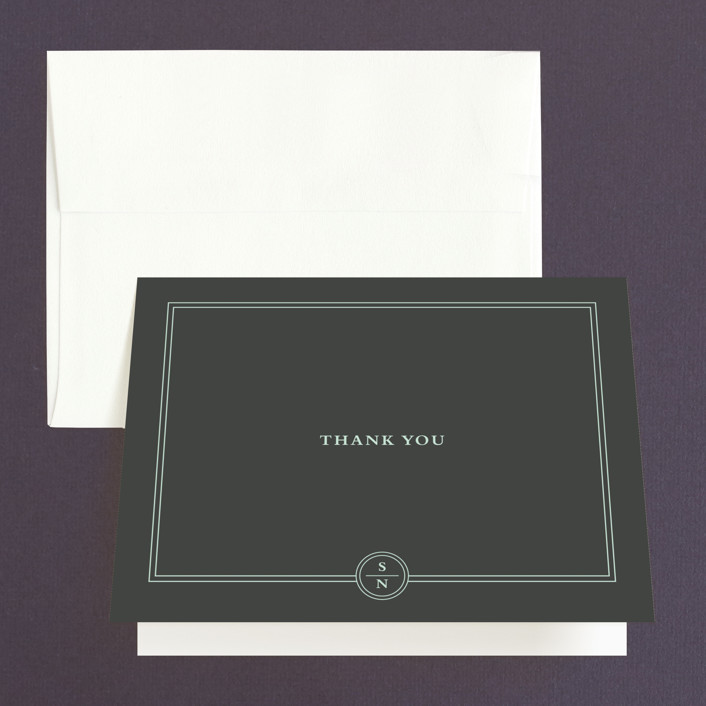 """""""Notable"""" - Modern, Preppy Thank You Cards in Robins Egg by Olivia Raufman."""
