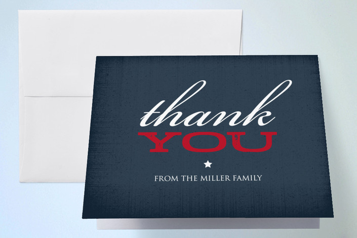 """""""Rustica"""" - Thank You Cards in Navy by Ringo Baby."""