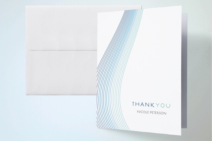 """Glass Ribbons"" - Thank You Cards in Ocean by kelli hall."