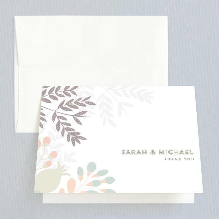 """Flower Burst"" - Floral & Botanical Thank You Cards in Blush by Phrosne Ras."