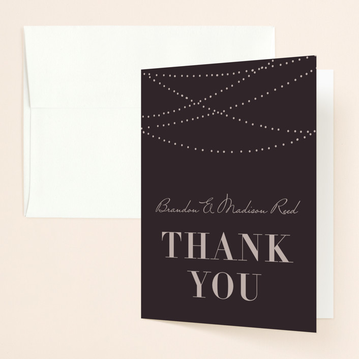 """""""Lavish"""" - Rustic Thank You Cards in Chalkboard by Design Lotus."""