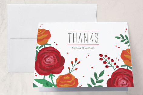 Bold Florals Thank You Cards