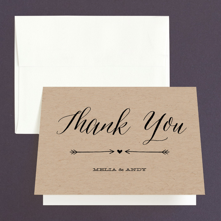 """With Joy"" - Modern Thank You Cards in Bowtie by Eric Clegg."