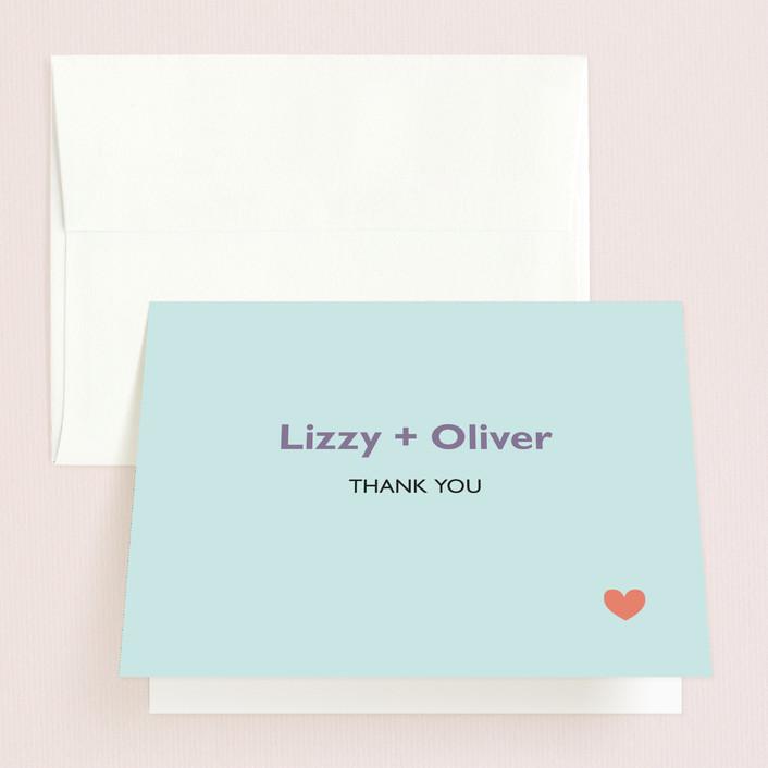 """""""Destination"""" - Folded Thank You Card in Lilac Haze by leslie hamer."""