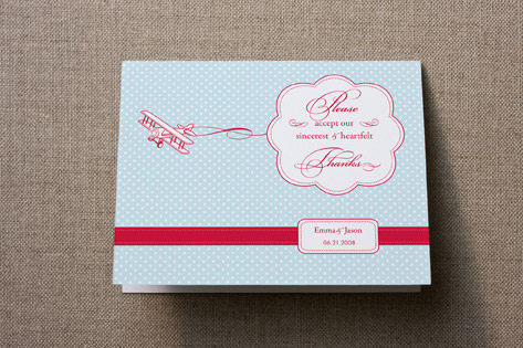 Come Fly With Me Thank You Cards